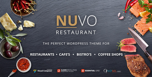NUVO 餐饮餐厅 WordPress主题