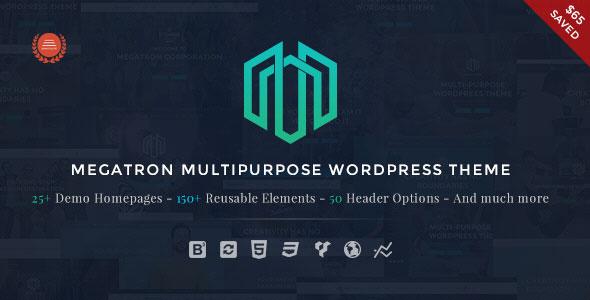 Megatron 多行业企业公司模板WordPress主题 – v3.2