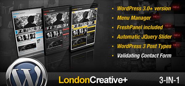 London Creative wordpress3合1摄影创作主题[更新至v5.5]