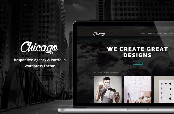 Chicago 设计企划公司模板WordPress主题