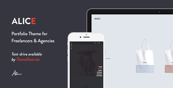 Alice 创意作品展示 WordPress主题 v2.0.4.1