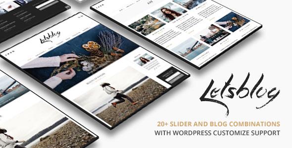 Lets Blog 博客杂志 WordPress主题