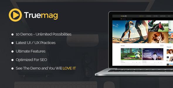 True Mag 视频杂志WordPress主题