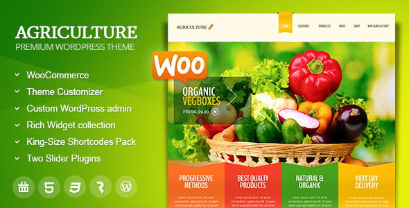 Agriculture 美食/绿色/农业 WordPress主题 – v1.6.3