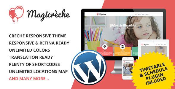 Magicreche 单页培训教育网站WordPress主题 – v3.1