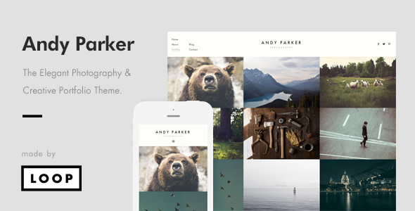 Andy Parker 创意摄影作品展示 WordPress主题 [ 更新至 v1.0.1 ]