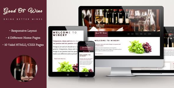 Good Ol` Wine 红酒 WordPress主题 [ 更新至v1.4.5 ]