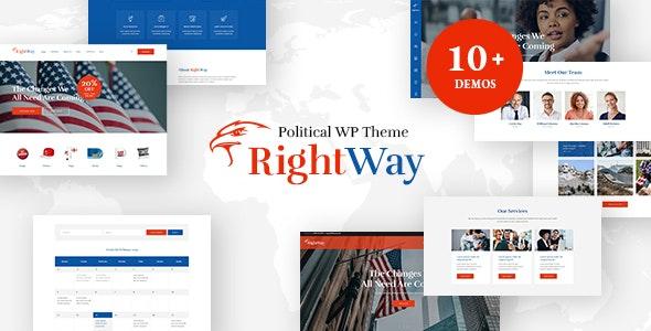 Right Way 政府组织机构 WordPress主题