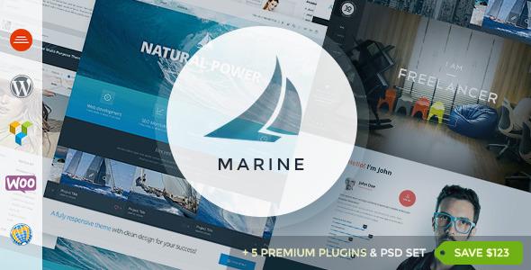 Marine 多用途 WordPress企业主题[更新至v2.4]