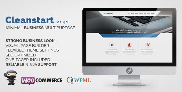 CLEANSTART v1.5.7 – 企业商务WordPress主题