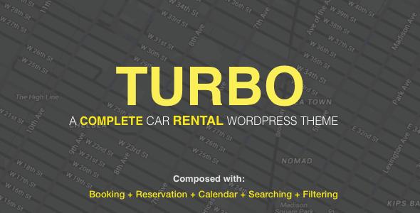 Turbo – 汽车租赁系统WordPress主题 – v6.0.7