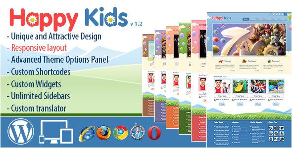 Happy Kids – 儿童母婴用品商店WordPress主题 – v3.5.1