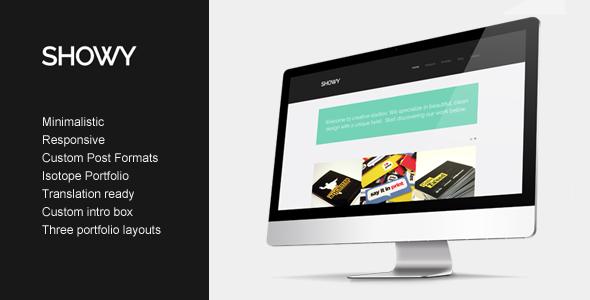 Showy 设计机构/案例展示 WordPress主题