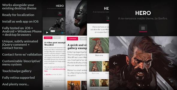 HERO 手机 WordPress主题模板