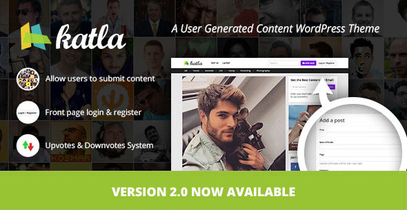 Katla 用户创造内容博客 WordPress主题 [ 更新至 v2.0.1 ]