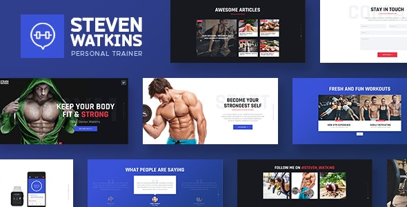 Steven Watkins – 私人健身营养教练WordPress主题 – v1.0.5