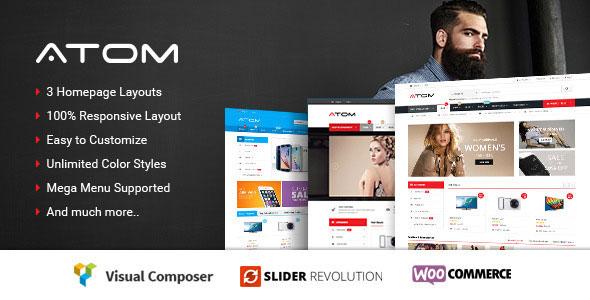 Atom 购物商城WooCommerce WordPress主题 v1.0.4