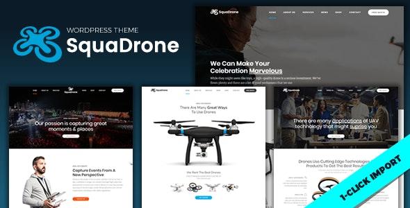 SquaDrone – 无人机航拍表演业务网站WordPress主题 – v1.1.0