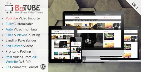 BeeTube 视频网站模板WordPress主题 – v2.3.3