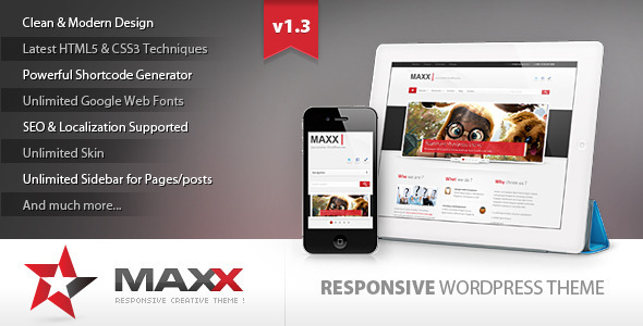 Maxx 漂亮简洁的企业 WordPress主题模板
