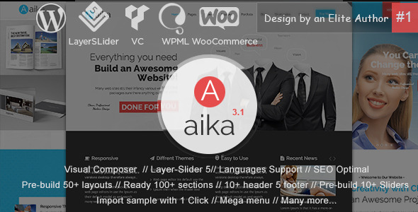 Aaika 多用途 WordPress主题 [ 更新至 v3.1.4 ]