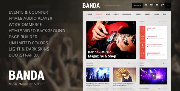Banda 音乐杂志 WordPress主题 [ 更新至v1.2.4 ]