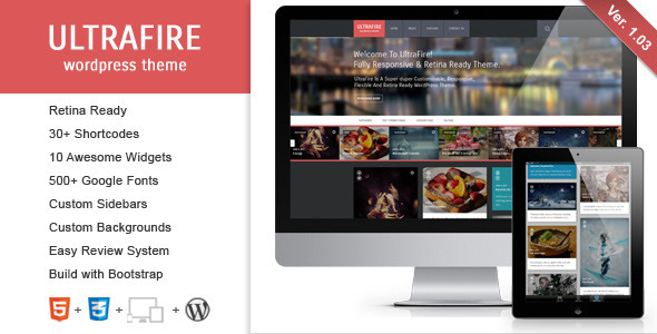 UltraFire 博客 WordPress主题