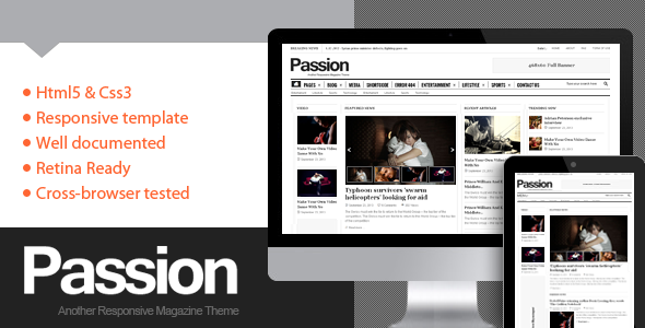 Passion 杂志 WordPress主题 v2.1.1