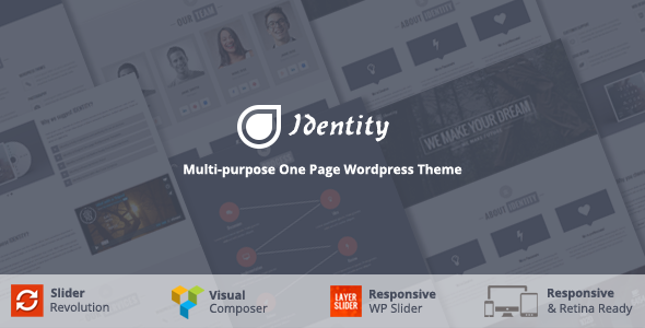 Identity 单页/ 多页商务 WordPress主题 [ 更新至 v2.3 ]