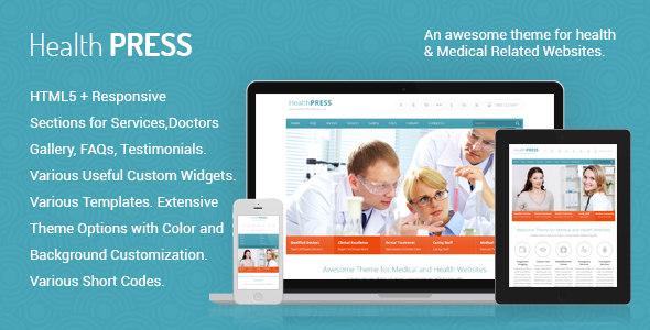 HealthPress 医疗健康网站wordpress主题