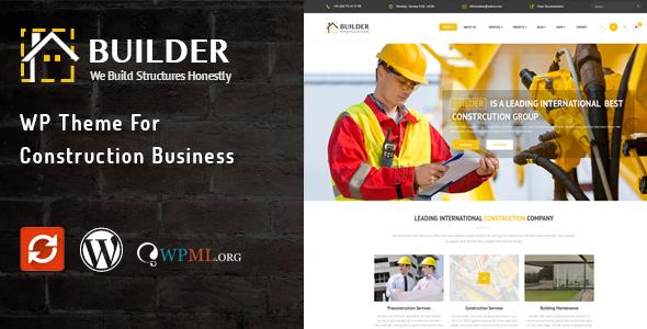 Builder 建筑公司 WordPress主题 [ 更新至 v1.2 ]