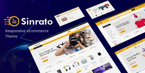 Sinrato – 数码电子商店WrodPress模板 – v1.0.3