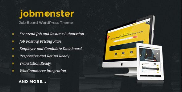 Jobmonster – 求职招聘WordPress主题 – v4.6.6