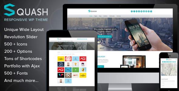 自适应Squash 创意商务企业模板 WordPress主题