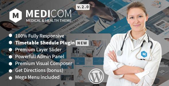 Medicom – 医疗卫生健康诊所WordPress主题 – v3.0.4