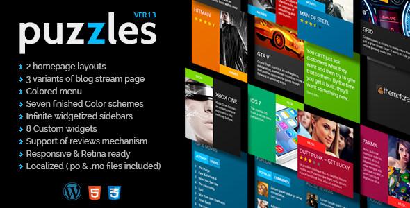 Puzzles 新闻杂志/评级WordPress主题 – v4.2