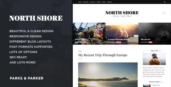 North Shore 博客 WordPress主题