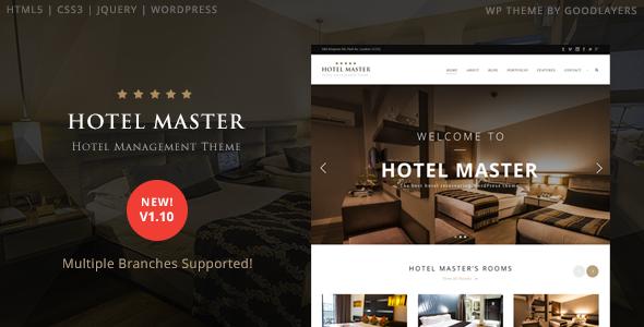 Hotel Master 酒店预订WordPress主题 – v1.11