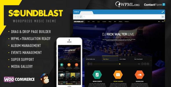 SoundBlast 音乐品牌 WordPress主题