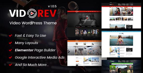 VidoRev – 视频影视网站模板WordPress主题 – v2.9.9.9.7.8