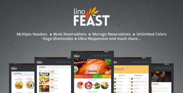 LinoFeast 餐饮美食 WordPress主题 v5.1