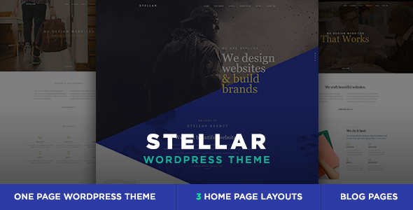 Stellar 单页多用途 WordPress主题