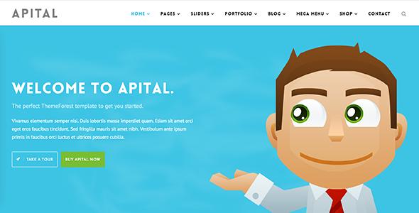 Apital v1.1 多用途企业公司WordPress主题-WordPress主题推荐