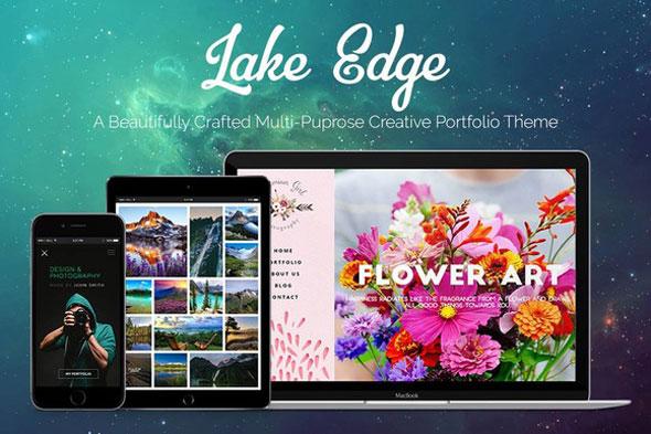 LAKE EDGE 创意作品展示 WP主题