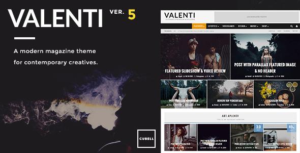 Valenti 时尚杂志 WordPress主题 – v.5.5.4