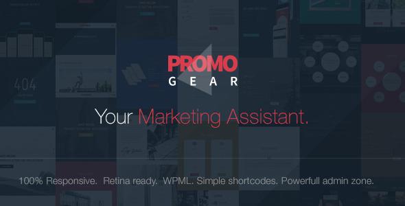 PromoGear创意单页WordPress多用途主题 v1.0.6
