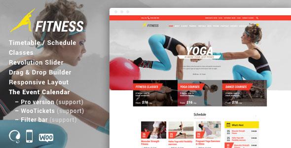 Fitness Sport Gym 健身运动 WordPress主题 v5.0