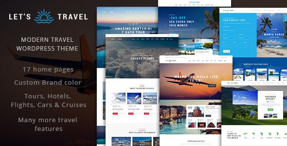 Let's Travel 旅游线路预订 WordPress主题 v1.0.3