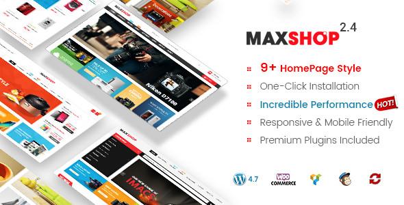 Maxshop v3.3.0 – 简洁清新购物 WordPress WooCommerce主题