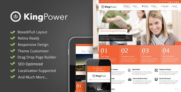 King Power 企业公司 WorPress主题 v1.0.9